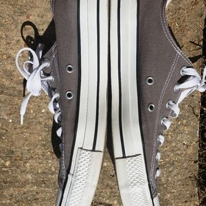 Converse Shoes - Converse gray mens size 11 all star kicks low top